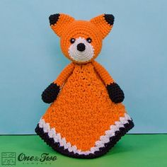 Flynn the Fox Lovey / Security Blanket via Craftsy