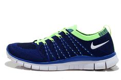 2015 Authentic Nike Free Flyknit Men Running Shoes Navy Blue Green Nike Free Men For Sale Nike Free Men, Nike Air Max Mens, Nike Casual Shoes, Sneakers Nike, Air Yeezy 2, Blue Green, Navy Blue, Nike Free Flyknit, Courses