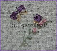 Silk ribbon butterfly tutorial