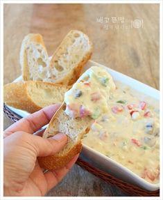 바게트에 올려 드세요~ 아침식사로 좋은...옥수수치즈수프 – 레시피 | 다음 요리