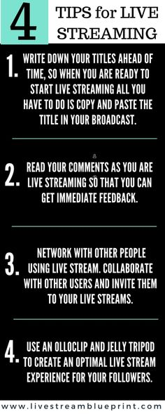4 tips for live streaming