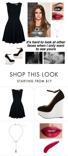 """""""Black Dress"""" by natalialovesnutella12 ❤ liked on Polyvore featuring Oasis, Charlotte Olympia, Rebecca Minkoff and TheBalm"""