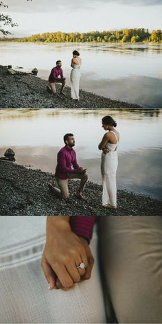 """When I turned around, he was on his knee with a ring box opened! He looked so nervous and I was so shocked. Proposal Photos, Proposal Photography, Bridal Photography, Couple Photography, Proposal Ideas, Photography Ideas, Wedding Proposals, Marriage Proposals, Wedding Pics"