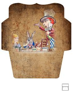 Free Alice In Wonderland Envelope Collage sheet from one blank dream check out my ETSY store by clicking on the link: http://www.etsy.com...