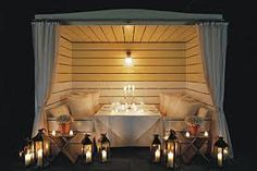 Cabana at Delano South Beach -- love this for an outdoor entertaining space. Delano Hotel, Outdoor Lounge, Outdoor Dining, Outdoor Spaces, Outdoor Decor, Hotel Concept, Pool Cabana, Hotel Pool, Gardens