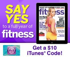 Fitness Magazine – 30 Days Free + $10 iTunes Code (iPad Only) ~ Still Available!