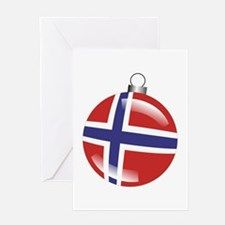 Norway Christmas Ornament graphic Greeting Card for
