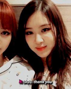 + rosé to lisa: you look pretty, too.  #rosé#lisa#blackpink#blackpinknet#femaleidolsedit#g:gifs#ahhh they're so cute :(