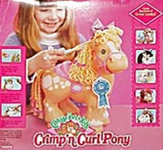 Crimp n' Curl Ponies. I had one of these as a little girl, and a doll too!!!