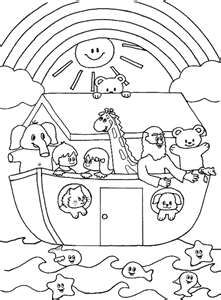 noahs ark coloring preschool bible class oh they forgot all the drowning bad guys and innocent land animals so cute - Coloring For Preschoolers