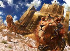 MtG: Lions of Sun Gate by algenpfleger on DeviantArt