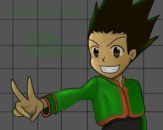 Me trying so hard to draw gon freecs from HUNTERXHUNTER and come out like this😅