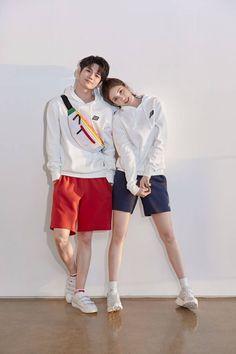 Click for full resolution. Seongwu & Somi for Beanpole Sport