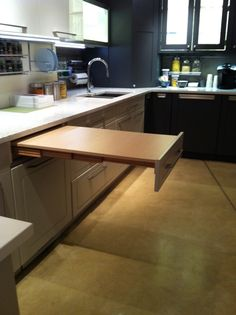 Hafele S Top Flex Pull Out Table System Works With Your