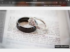 Beautiful picture of the rings with the scripture read during the ceremony. Site is from darrenwellhoeferphotography.com as you can see in the screen snapshot.
