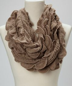 Take a look at this Taupe Petal Infinity Scarf on zulily today!