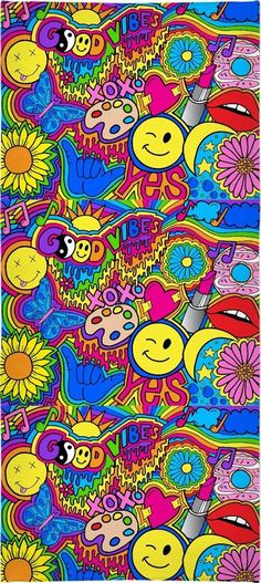Hippie Vibes Towel   Hippie Wallpaper, Hippie Painting