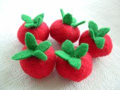 Cherry Tomatoes Fun Felt Food For Pretend Play by lisajhoney, $7.00