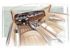 Rolls-Royce Phantom Coupe Aviator Collection Interior Design Sketch