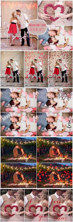 45 Valentine's Day Photo Overlays. Photoshop Layer Styles. $12.00 Photoshop Overlays, Photoshop Actions, Photography Editing, Art Photography, Valentines Day Pictures, Layer Style, Layers, Grits, Special Effects