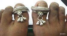 vintage antique tribal old silver big toe ring gypsy hippie jewelry