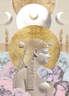 Egyptian Queen Nefertiti, Egyptian Art, Collage Design, Collage Art, Digital Collage, Vision Art, Fantasy Art Women, Beauty Art, Artistic Photography