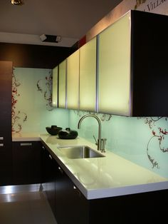 Single Panel Tempered Glass Back Splash Finally I Ve Decided What I Want
