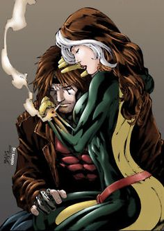 Rogue and Gambit: my absolute favorites growing up! Always wanted to be Rogue so I could have Gambit.