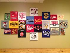 Displayed kids sports t-shirts - Kids Room Ideas