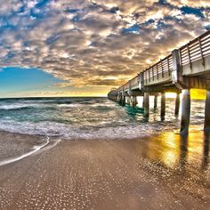 Sunrise at the Lake Worth Pier in Florida. Photography by Daniela Gross