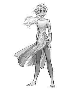 Elsa Character Designs de Jin Kim para o filme Frozen 2 Art Disney, Disney Concept Art, Disney Style, Disney Love, Disney Sketches, Disney Drawings, Art Sketches, Art Drawings, Drawing Faces