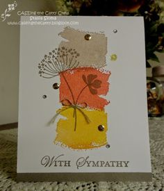 Stampin' & Scrappin' with Stasia: Caseing the Catty - SU - Work of Art, Summer Silhouettes, Loving Thoughts Father's Day Simple Card Designs, Get Well Cards, Fall Cards, Pretty Cards, Card Sketches, Sympathy Cards, Flower Cards, Birthday Cards, 21st Birthday