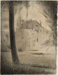 Georges Seurat, Pumpkin Drawing, Impressionist Artists, Grand Palais, Chiaroscuro, French Art, Large Art, Vintage World Maps, Landscape
