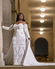 9edf21c9629eb Long sleeve  plussize  wedding  gowns are available. We specialize in  custom wedding  gowns for  brides of all shapes   sizes. Have this  dress  custom made ...
