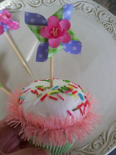 pinwheel cupcake toppers for spring or Easter