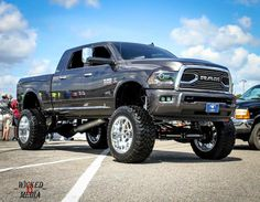 Lifted truck, love the shine Cummins Diesel Trucks, Dodge Ram Diesel, Ram Trucks, Dodge Trucks, Cool Trucks, Pickup Trucks, Lifted Dodge, Pick Up Diesel, Ram Mega Cab