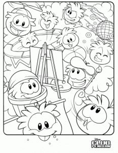 about 10 free club penguin coloring page printables | freebies ... - Club Penguin Coloring Pages Ninja
