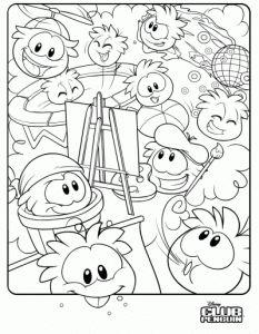 A Club Penguin Coloring Sheet