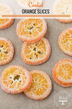 Sweet Candied Oranges Slices that are perfect for decorating all sorts of desserts! You can enjoy the candied orange slices dipped in chocolate or use them to decorate your favorite dessert. Orange Recipes, Fruit Recipes, Candy Recipes, Baking Recipes, Sweet Recipes, Dessert Recipes, Fudge Recipes, Recipes With Oranges, Cream Recipes