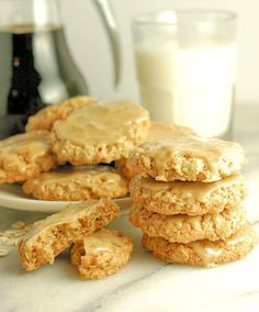 """This is my family's all time favorite cookie recipe. They're so popular we've dubbed them the """"Magic Oatmeal Cookies"""". Favorite Cookie Recipe, My Favorite Food, Favorite Recipes, Candy Recipes, Sweet Recipes, Cookie Recipes, Maple Candy Recipe, Best Oatmeal Cookies, Thing 1"""