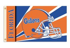 NCAA Florida Gators 3by5 Foot Flag with Grommets  Helmet Design -- Click on the image for additional details.