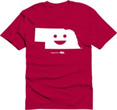 Happy state Co. nebraska shirt available at http://www.kickstarter.com/projects/happystateco/happy-state-co-state-themed-shirts