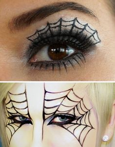 DIY Spiderweb Makeup Tutorials.For DIY Spiderweb Makeup, you can go the easy yet subtle route or the more full on spider mask. DIY Spiderweb Eye Makeup Video from YouTube user ToT mama. DIY Spiderweb Mask Tutorial from YouTube user Michael James.