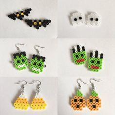 Halloween Perler Bead Earrings by SMwristlets on Etsy
