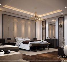 Contemporary Bedroom Interior design on Behance Small Master Bedroom, Modern Bedroom, Bedroom Decor, Bedroom Ideas, Masculine Master Bedroom, Trendy Bedroom, Luxury Bedroom Design, Master Bedroom Design, Interior Design