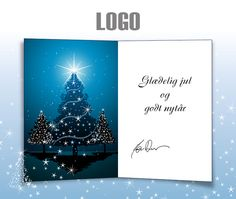 ekortet.dk leverer danmarks flotteste elektroniske julekort til virksomheder.På billedet: Julekort med logo. Juletræer. Stjernehimmel, Ekort, e-kort, e-julekort, ejulekort, elektroniske julekort, ecard, e-card, firmajulekort, firma julekort, erhvervsjulekort, julekort til erhverv, julekort med logo, velgørenhedsjulekort, julekort