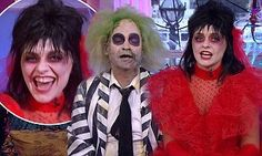 TV & Showbiz – Latest Celebrity News, Gossip and Photos #celebrity #news http://entertainment.remmont.com/tv-showbiz-latest-celebrity-news-gossip-and-photos-celebrity-news-2/  #celebrity news # Holly Willoughby and Phillip Schofield look completely unrecognisable as Beetlejuice and Lydia Deetz for This Morning's Halloween special They're known for their…