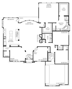 Open Floor Plans plan 83853jw small house with giant family room I Like The Foyer Study Open Concept Great Room And Kitchen Portion Of This Floor Plan And How The Stairs Are Out Of The Waybut Would Move Kid Be