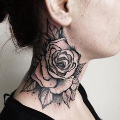 """""""#tattoo #tattrx #tattoos #ink #inked #inkedup #tattrx #blackart #blackworkerssubmission #blackartsupport #darkartists #rose"""""""
