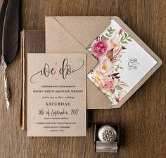 Invitaciones de boda estilo rústico   El Blog de una Novia
